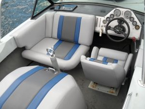 Interior of Ski Nautique boat