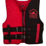 Black and red child's wakeboard vest liquid force nemesis for sale in costa rica